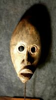 Mask African Carved Wood Tribal Wall Hand Vintage Art Wooden Face Decor  1081