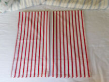 "RALPH LAUREN ""POND VIEW STRIPE"" RED & WHITE  KING SIZE PILLOWCASES-100% COTTON"
