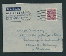 04198) GB / UK GA Aerogramme LF1 I, Sutton C. 12.7.43 > Military... S.Rhodesia