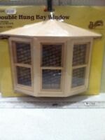 Dolls House 1:12th Scale Wooden Double Hung Bay Window From Houseworks