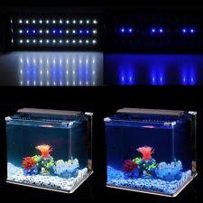 """LED Aquarium Light Fish Tank Lights Extendable Hood Brackets White Blue 11""""-19"""""""