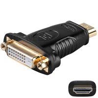 HDMI-Adapter HDMI19-Stecker/<-/> DVI-24+1-Buchse vergoldet