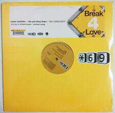 """Pet Shop Boys Break 4 Love Maxisingle 12"""" USA 2001 """"Sticker"""" en portada"""