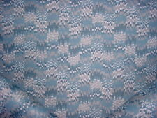 1-3/8Y Pollack 2413 Gifted River Blue Silver White Geometric Upholstery Fabric