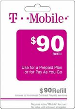 T - MOBILE Prepaid $90 Refill Top-Up Prepaid Card / DIRECT RECHARGE