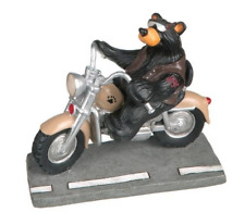 Harley Bear Biker Mini Figurine  Bearfoots Big Sky Carvers #30150112