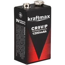 1x Rauchmelder 9V Lithium Batterien für Feuermelder / 9v Block Batterie 10 Jahre