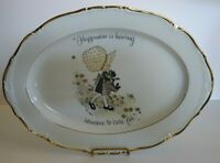 Vintage Holly Hobbie Collectible Porcelain Plate 1973 World Wide Arts Cleveland