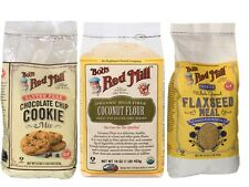 3x Bob's Red Mill Organic Coconut Flour, Flaxseed meal, chocolate chip cookie