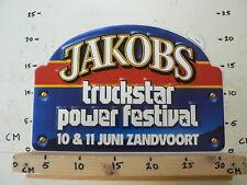 STICKER,DECAL JACOBS TRUCKSTAR POWER FESTIVAL ZANDVOORT BIG SIZE  10 & 11 JUNI
