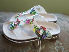 NWT Italian Sandals Giulia Palai for Girls, sparkle, floral Size 1
