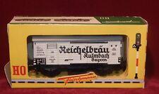 FLEISCHMANN WAGON COUIVERT EN MÉTAL REICHELBRÄU, NEUF BOITE Réf : 1461