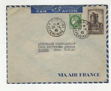 France 2 timbres sur lettre 1940 tampon Paris 62 /L676
