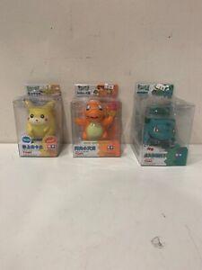 Lot Of 3 Vintage auldey tomy Pocket monsters pikachu pika Japanese POKÉMON