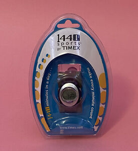 Timex Sports 1440 Women's Indiglo Digital Water Resistant Alarm Chronograph NEW