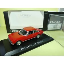 PEUGEOT 504 COUPE Rouge NOREV 1:43