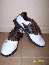 Adidas Golf Climaproof Sz.12 Men's Golf Shoes White brown black