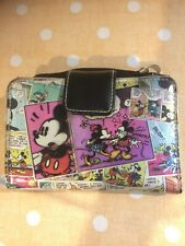 Minnie and Mickey Mouse Comic Oh Boy Wallet Disney Vinyl Zipper