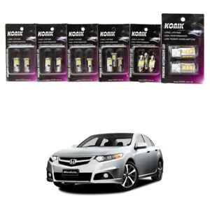 Honda Accord EURO CU2 LED UPGRADE KIT KONIK Reverse Interior Parker Rego light