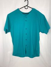 VINTAGE 80s/90s Blank button T-Shirt Size XXL Russell Athletic USA Made