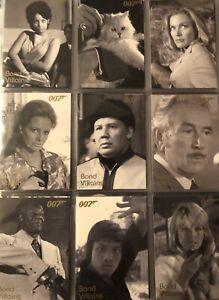 JAMES BOND MISSION LOGS BOND VILLIANS 11 CARD CHASE SET F71-81 - RARE