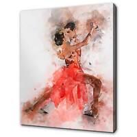 DANCE ART PRINT Midnight Tango by Loui Jover Couple Romance Dancing Poster 24x18