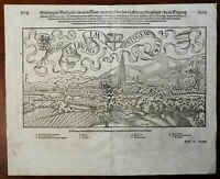 Freiburg Breisgau Holy Roman Empire 1598 Munster Cosmography wood cut city view