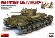 Mini Art 1/35 Valentine Mk IV Tank Soviet Red Army W/ Crew Model Kit 35092