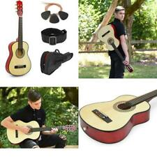 """38"""" Natural Wood Guitar With Case for Kids/Boys/Beginners, Right /Left Handed"""