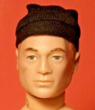 Vintage  GI Joe Black Cloth Beanie Skull Cap