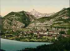 Valais. Saint-Maurice et la Dent du Midi. PZ vintage photochromie, photochrom