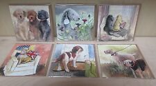 Dog cards by Alex Clark. Pack of six various
