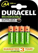 DURACELL - 4 x AA 1300mAh RECHARGEABLE 1.2 v - ref : HR6DC1500