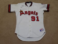 Tom Lawless Game Worn Signed Jersey 1989 California Angels