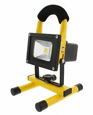 ABN LED Flood Light 10W Rechargeable Portable Worklight, 12V Adapter & Wall Plug