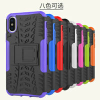 Rugged Hybrid Armor Shockproof Hard Case Stand Cover For Apple iPhone 10 X