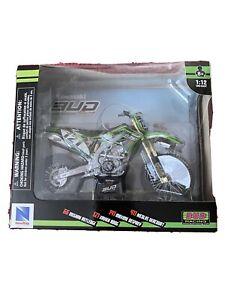 newray 1:12 Kawasaki Bud Racing 121 Xavier Boog Motocross Model Bike