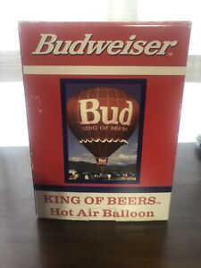 Budweiser King of Beers Hot Air Balloon Collectible Coin Bank NIB