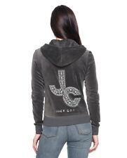 NWT Juicy Couture Encrusted JC Velour Robertson Hoodie in Top Hat-Small