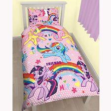 My Little Pony Mélange de coton housse couette simple 2 en 1 Designs NEUF filles