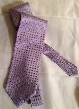 Sartoria Purple with Oval Print Hand Made Silk Necktie Tie