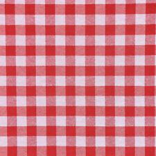 Dekostoff Karostoff kariert rot weiß Karogröße ca.1,5cm