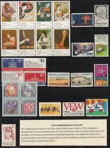 U S 1974 Commemorative Year Set (27 stamps) Mint Never Hinged