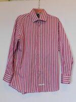 English Laundry Christopher Wicks Magenta Stripe Shirt w/reversible cuffs