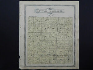 Wisconsin Oconto County Map 1912 Townships of Little Prairie and Lena K20#18