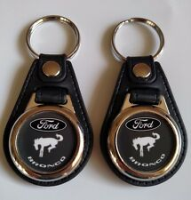 FORD BRONCO KEYCHAIN 2 PACK  BLACK WHITE