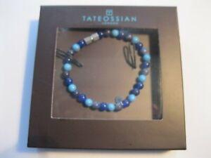 TATEOSSIAN Blue Semi Precious Bead Polished Bracelet RRP £110 M