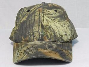 Youth Camouflage Hat Brown Green Leafs Ball Cap Real Tree Adjustable Baseball
