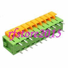 "10pcs/row signals Terminal Breakout Self-locking 0.3"" plug solder 180° PCB Board"