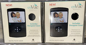 "Lot Of 2 EnVue Burnes Digital Photo Album W/Case 3.5"" LCD SD MMC Card Slot"